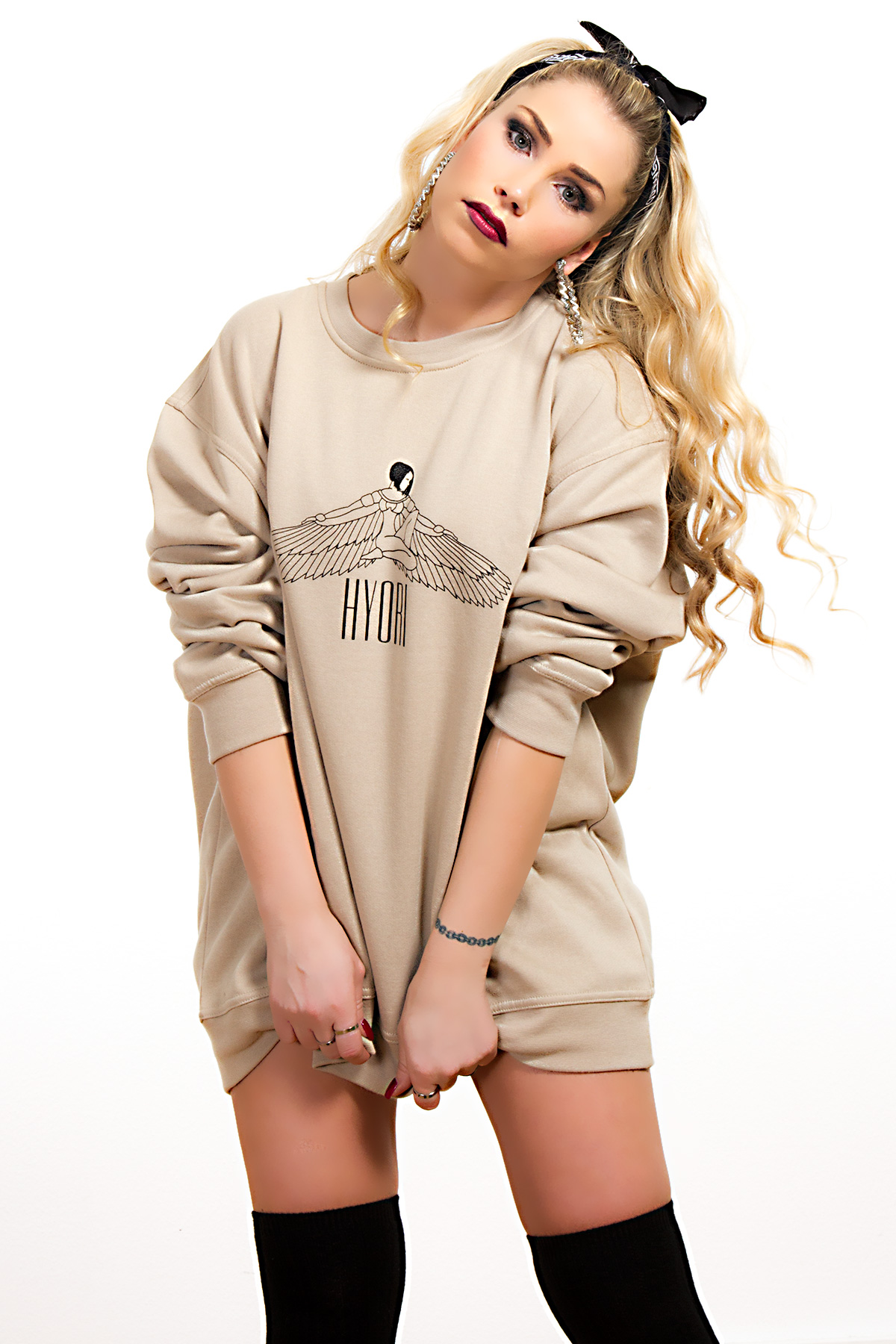 Hyori Goddess Isis Sweatshirt in Beige for Women