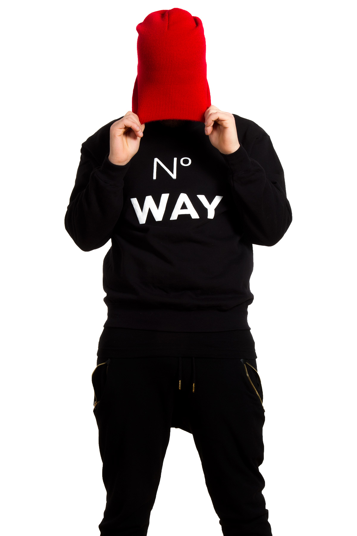 Hyori No Way Sweatshirt in Black for Men