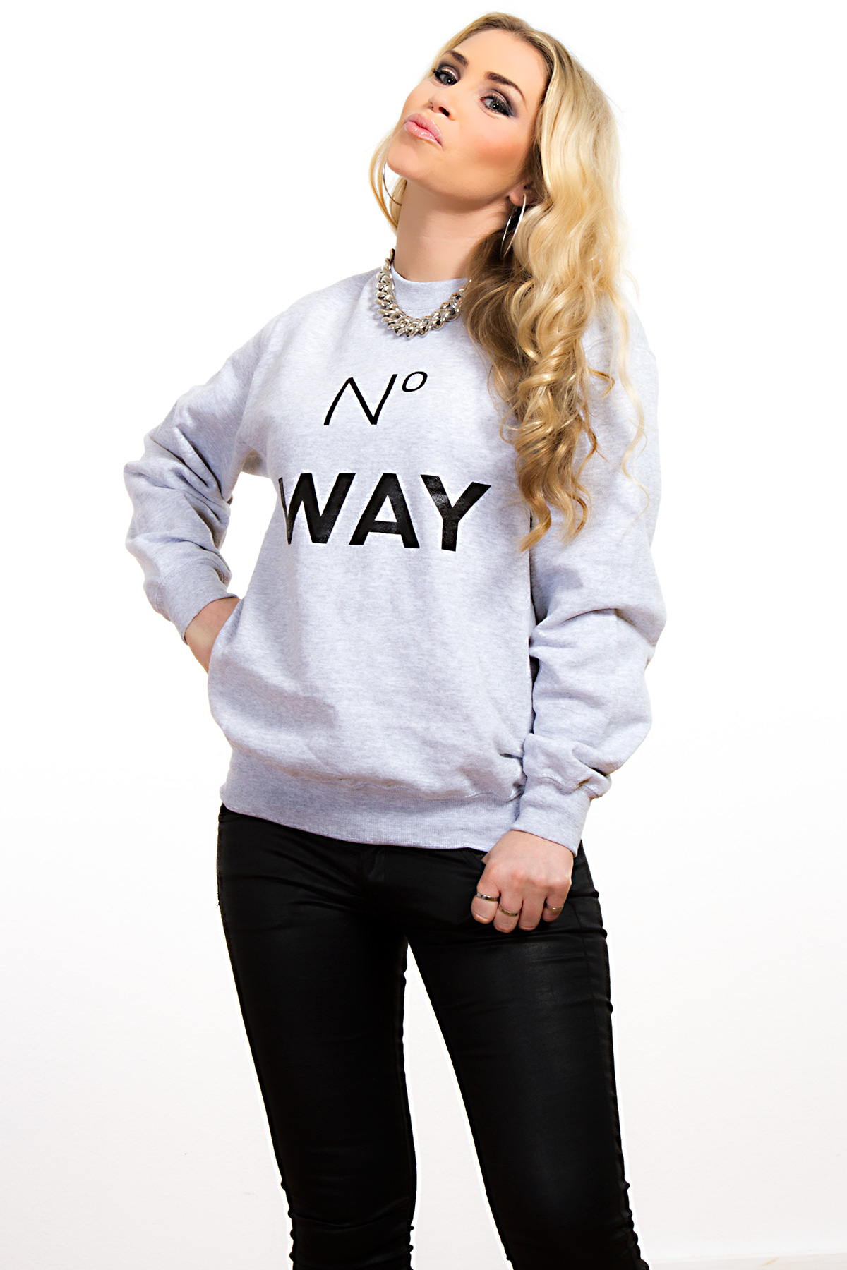 Hyori No Way Sweatshirt in Gray for Women