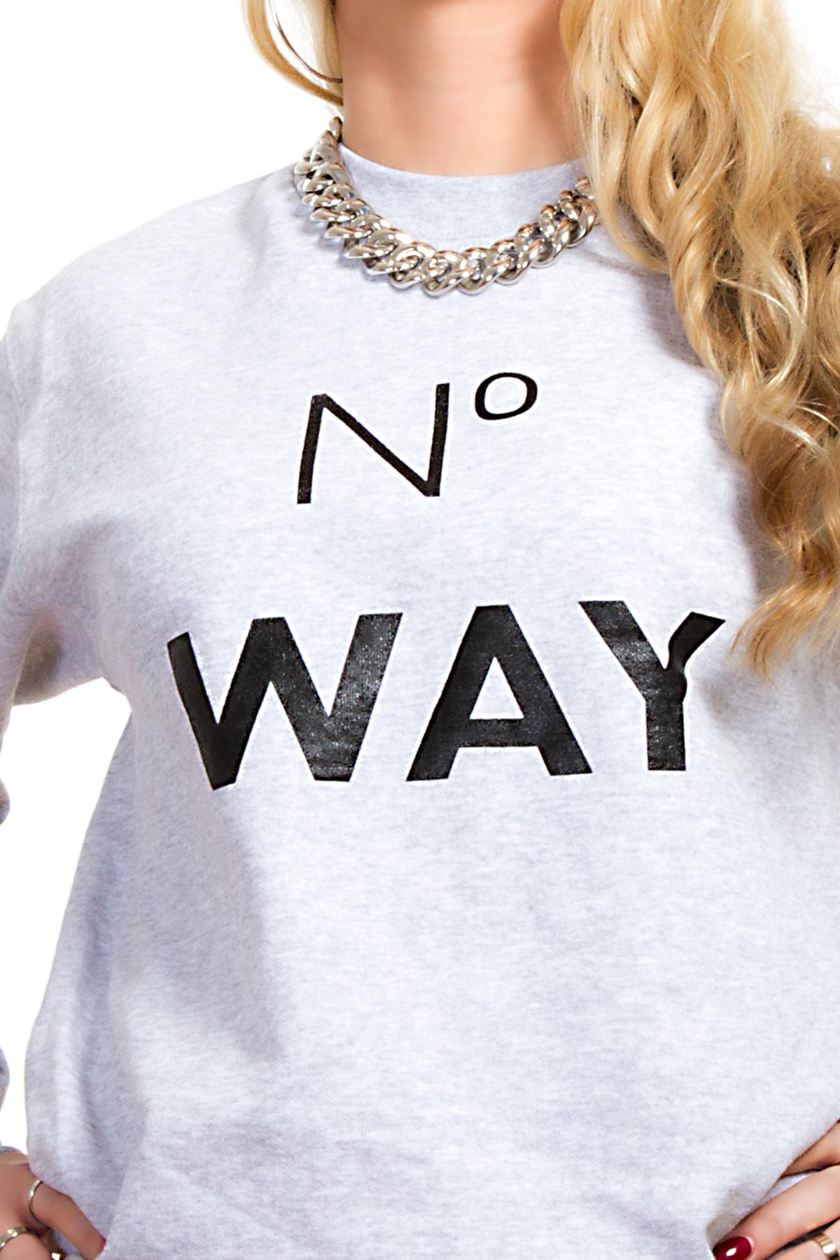 Hyori No Way Sweatshirt in Grau für Damen