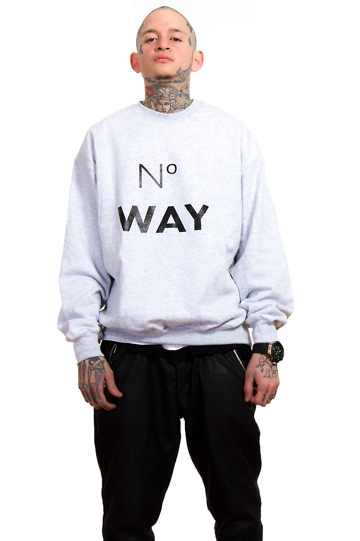 Hyori No Way Sweatshirt in Gray for Men