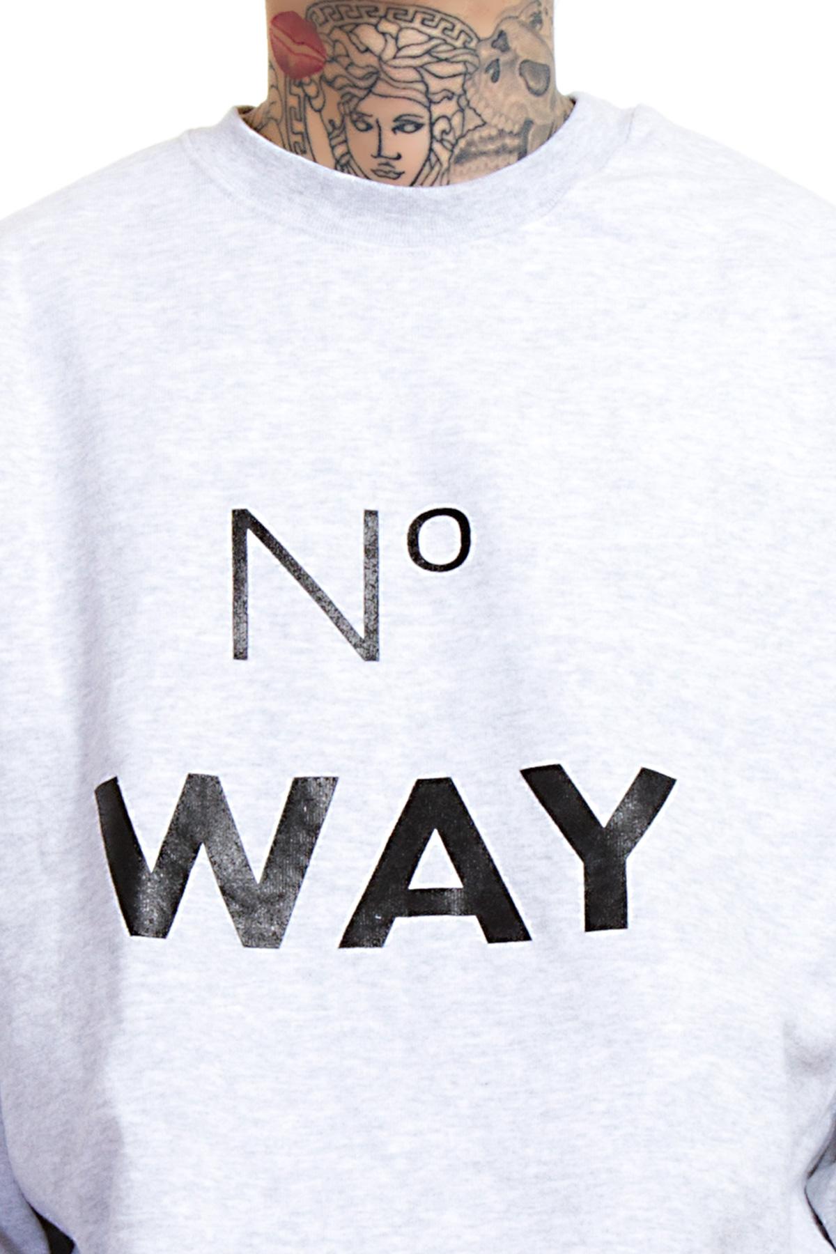 Hyori No Way Sweatshirt in Gray für Männer