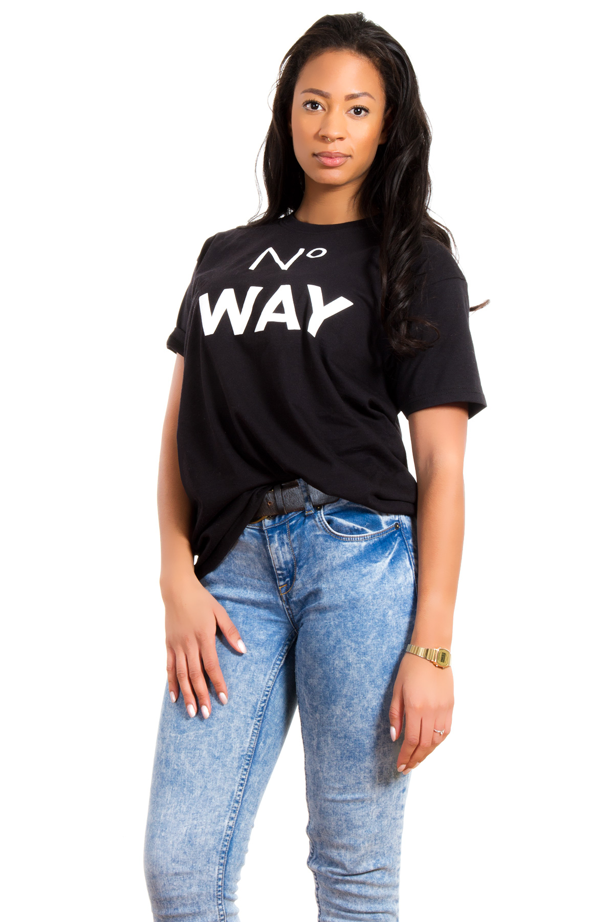 Hyori No Way T-Shirt in Black for Women