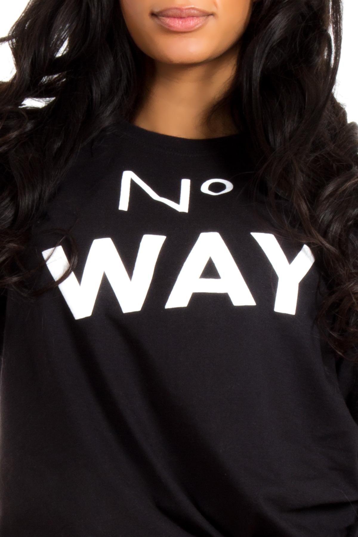 Hyori No Way T-Shirt in Schwarz für Frauen