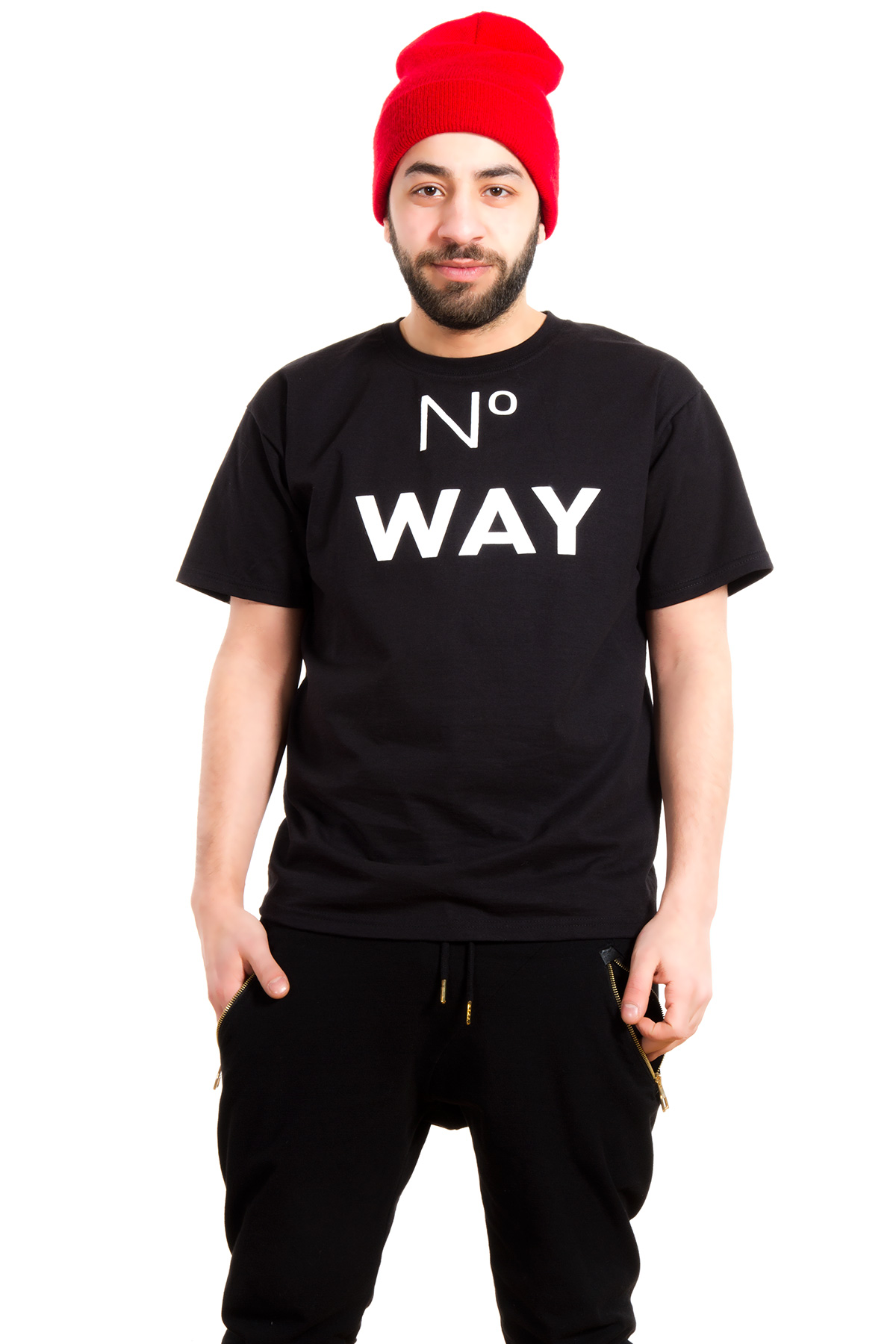 Hyori No Way T-Shirt in Black for Men