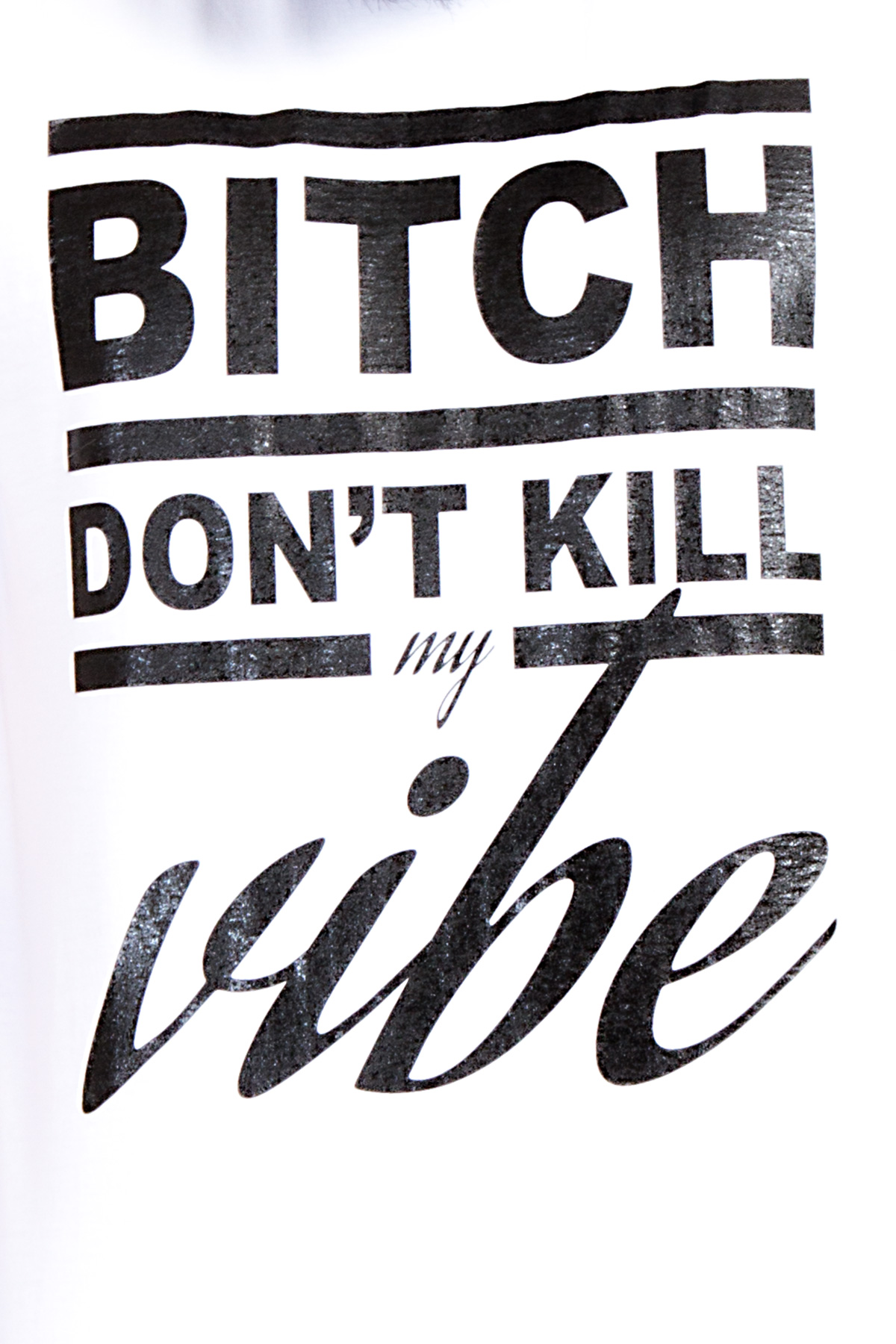 Hyori Bitch Don't Kill My Vibe T-Shirt in Weiß für Männer