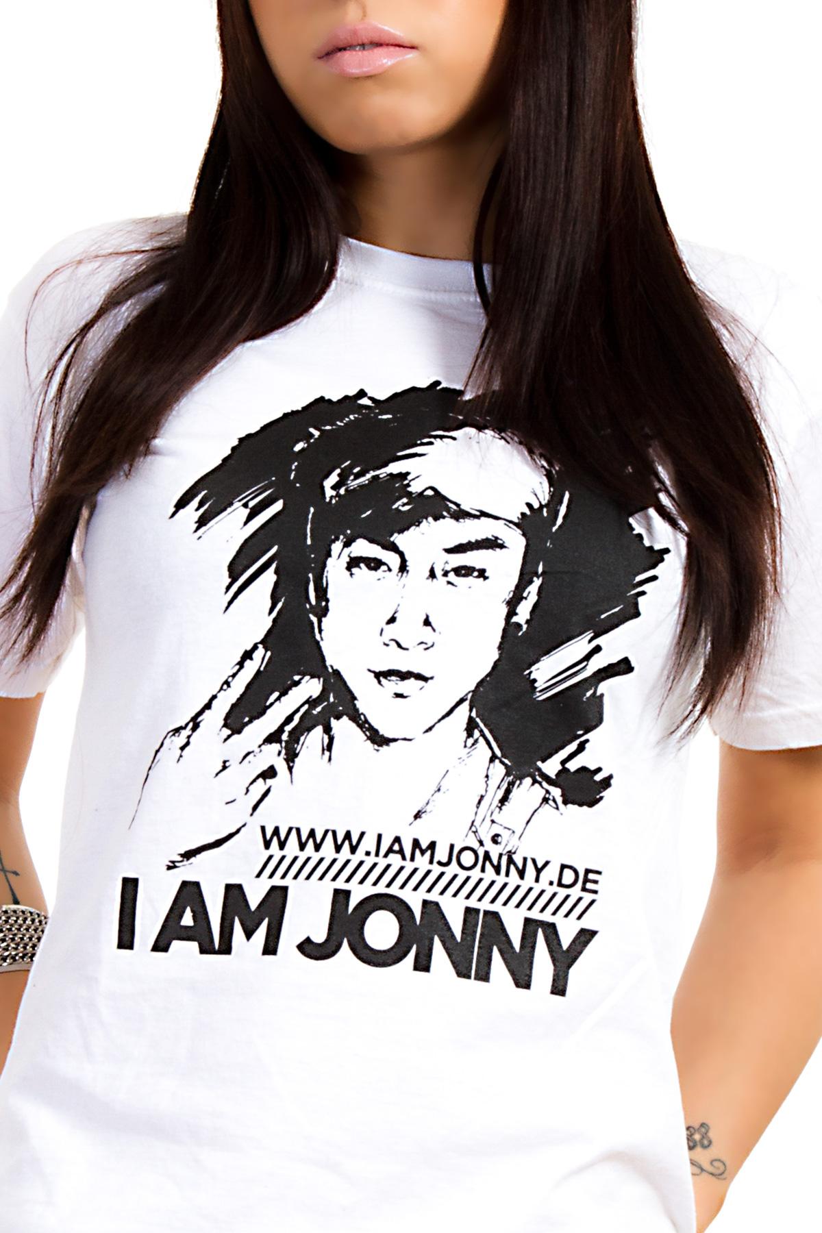 I Am Jonny Classic T-Shirt in White für Damen