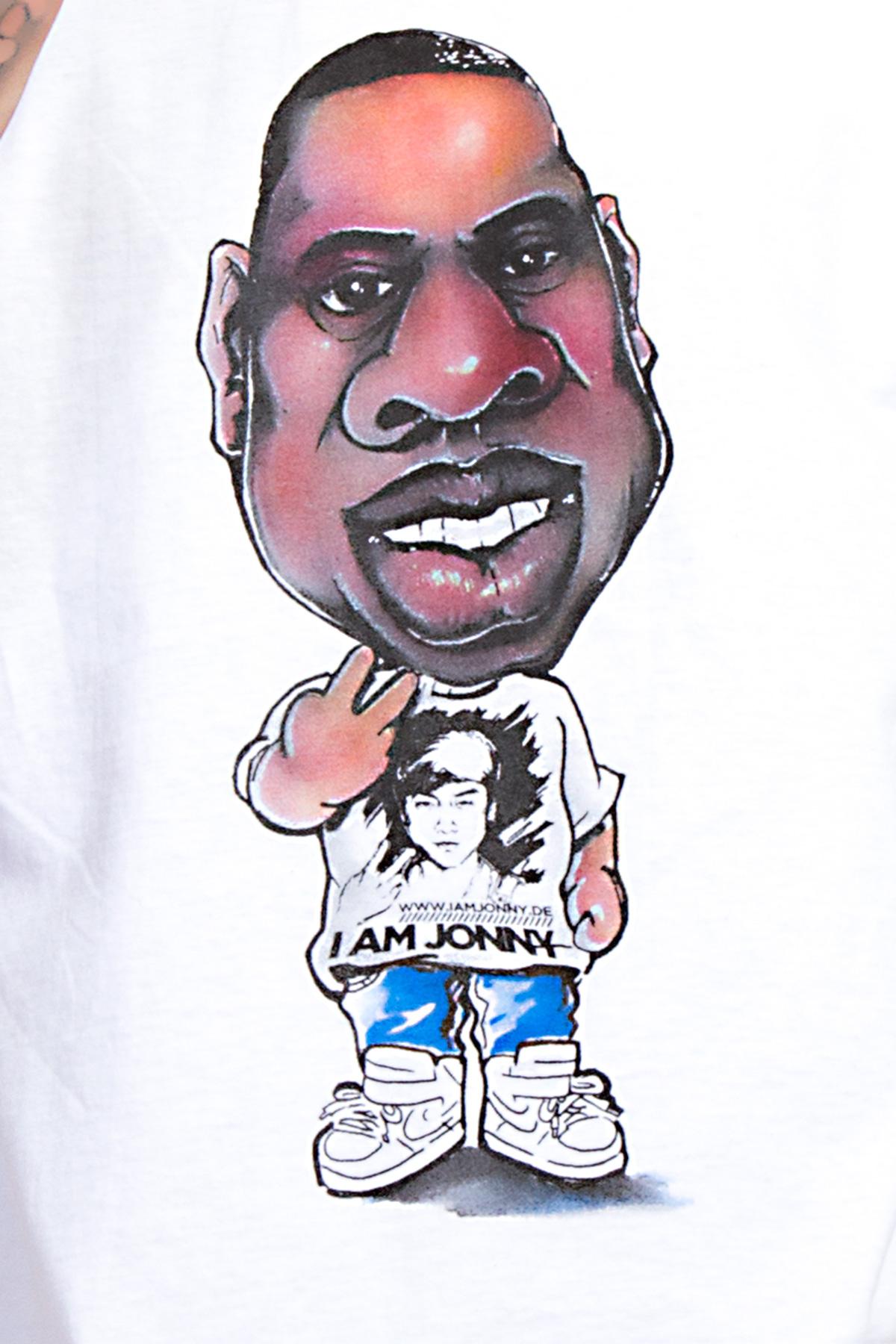 I Am Jonny Jay Caricature Fan T-Shirt in White by Cao Bao Vu