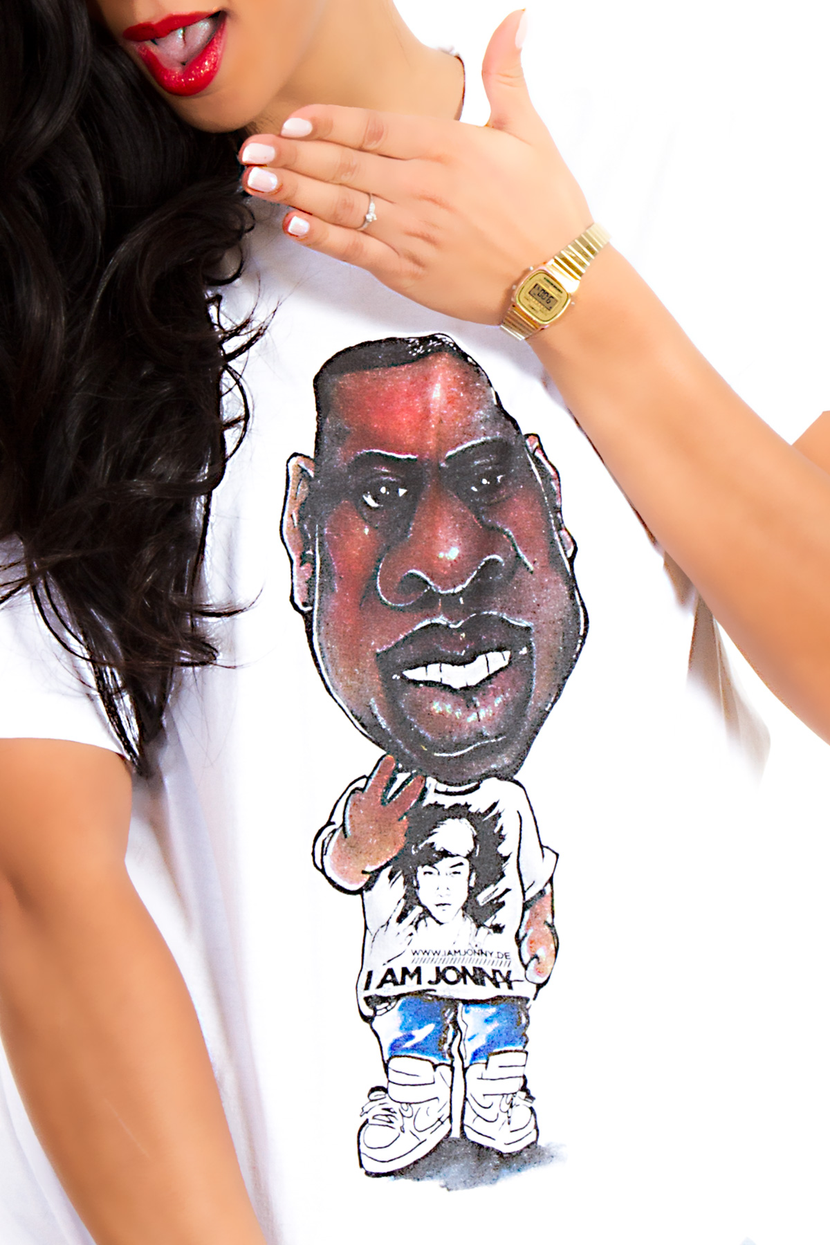 I Am Jonny Jay Caricature Fan T-Shirt in White by Cao Bao Vu